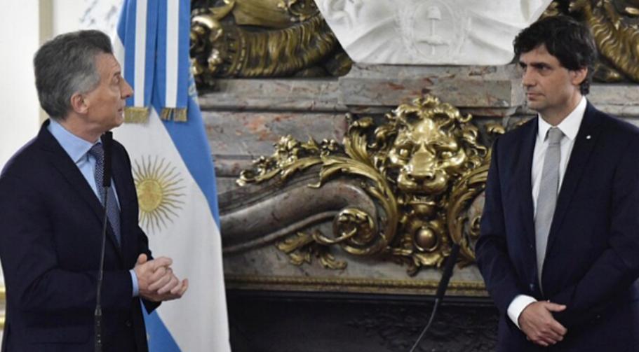 Macri le tomó juramento a Hernán Lacunza