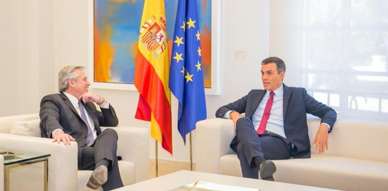 Alberto Fernández se reunió con el presidente de España